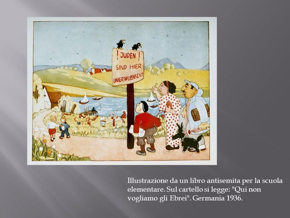 Illustrazione da un libro antisemita per la scuola elementare