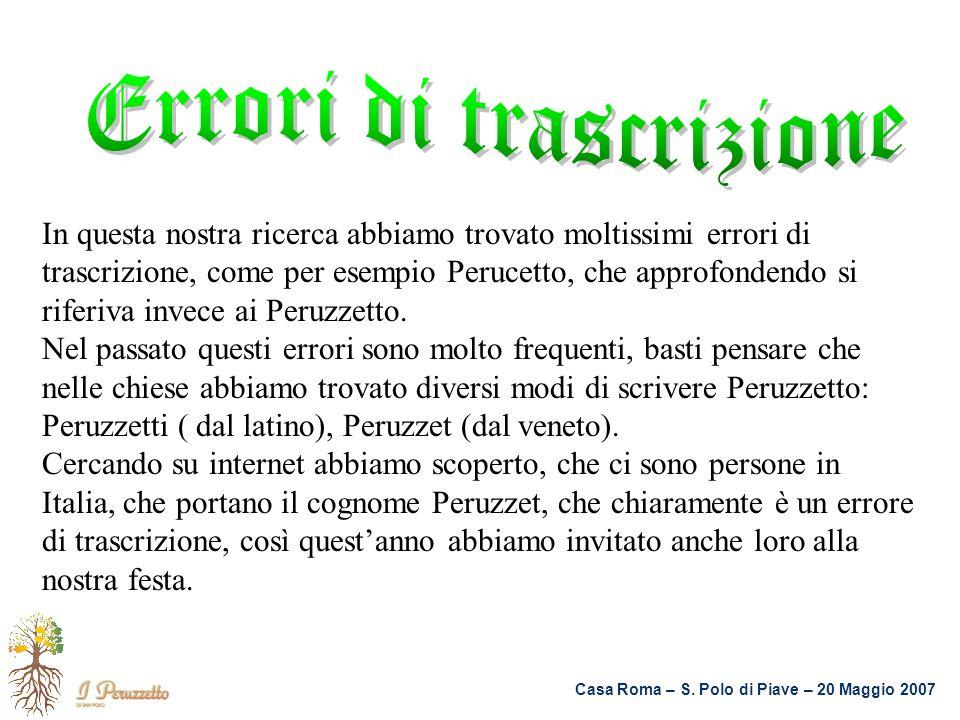 Errori di trascrizione