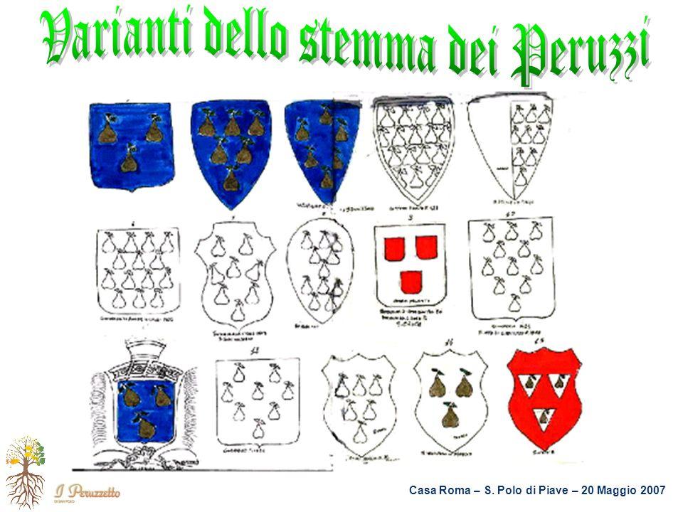 Varianti dello stemma dei Peruzzi