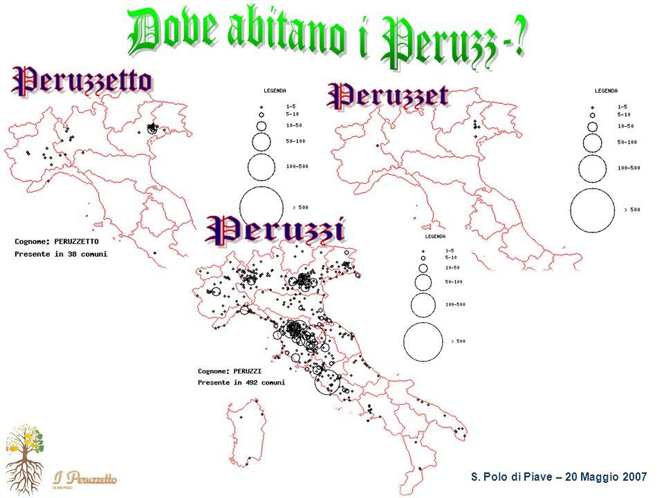 Dove abitano i Peruzz- Peruzzetto Peruzzet Peruzzi