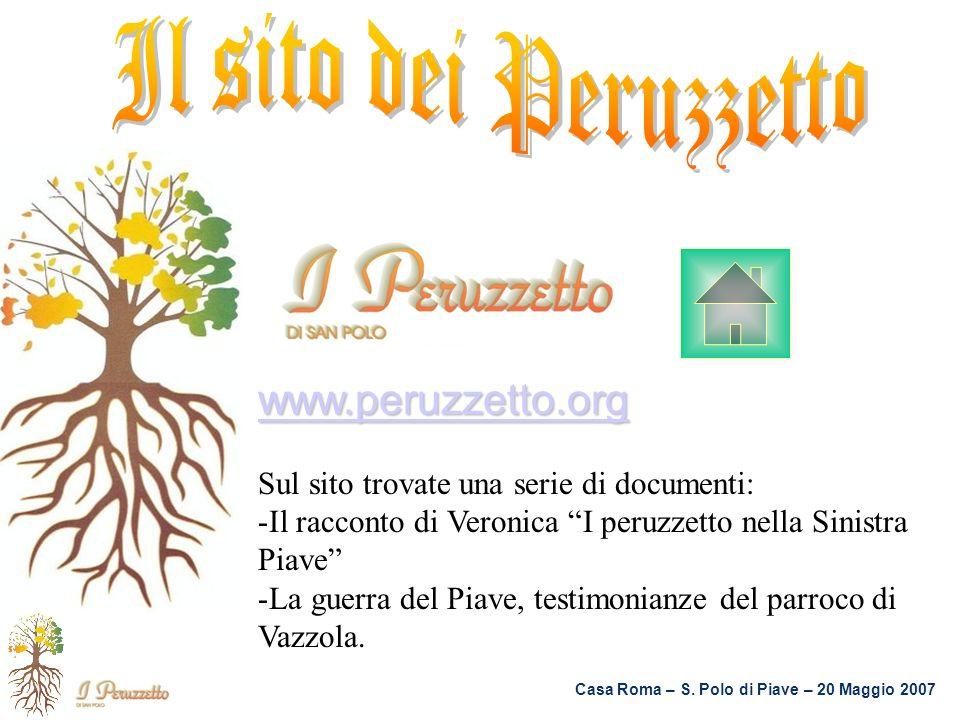 Il sito dei Peruzzetto www.peruzzetto.org