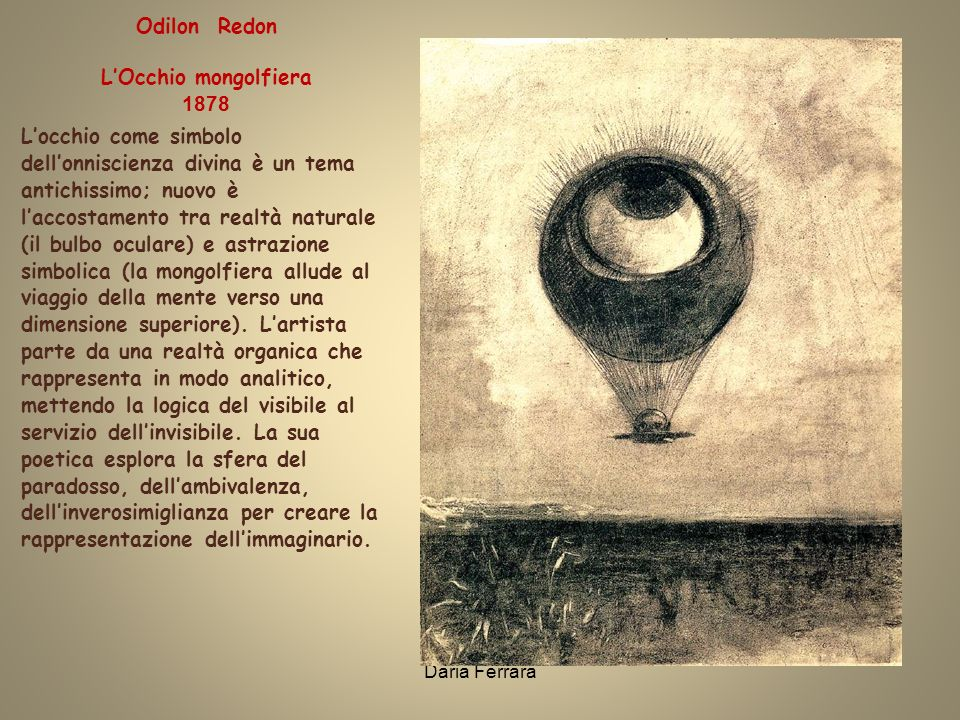Odilon Redon L'Occhio mongolfiera 1878