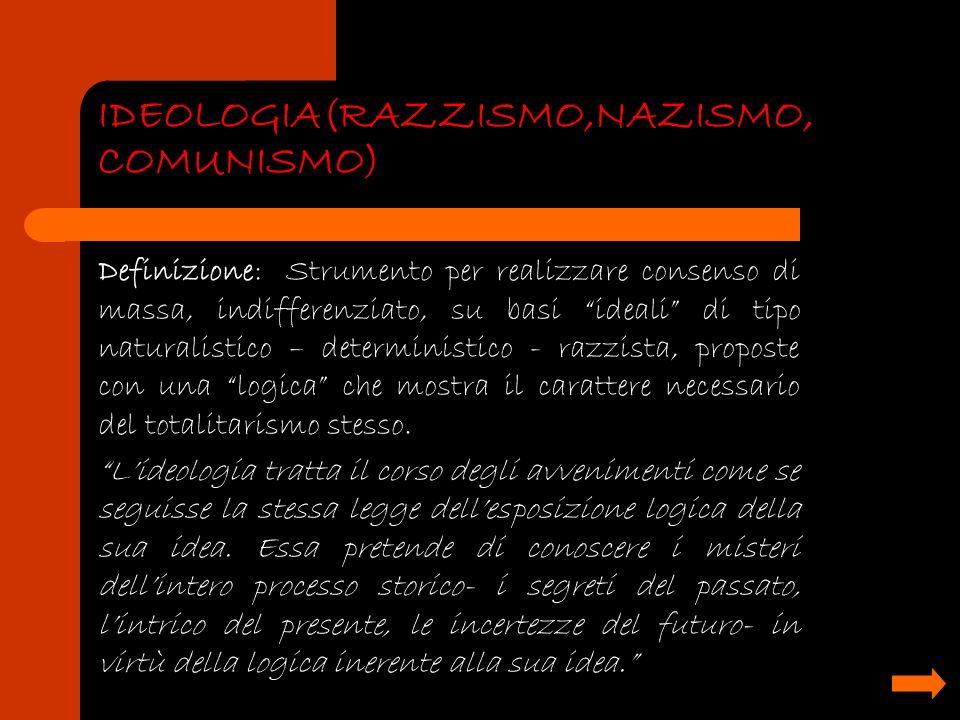 IDEOLOGIA(RAZZISMO,NAZISMO, COMUNISMO)