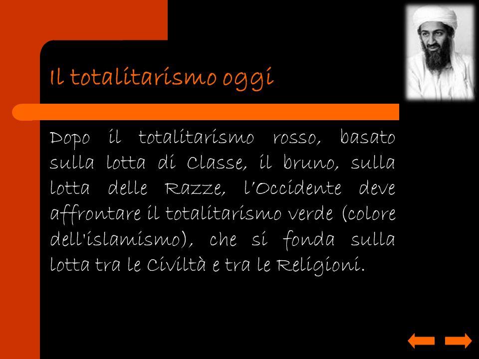 Il totalitarismo oggi