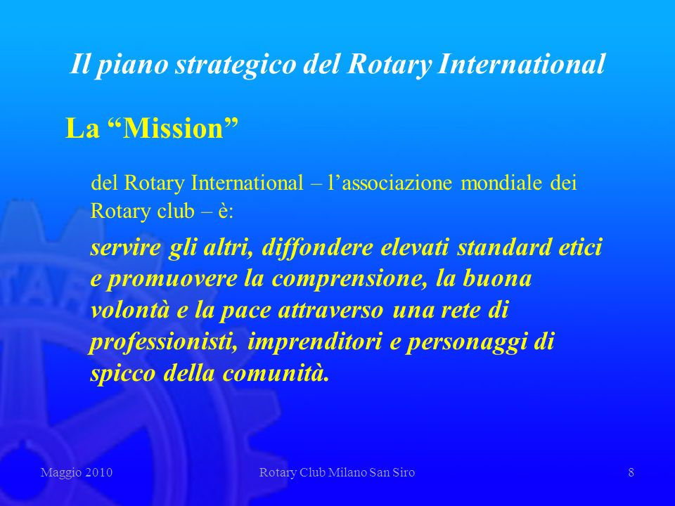 Il piano strategico del Rotary International