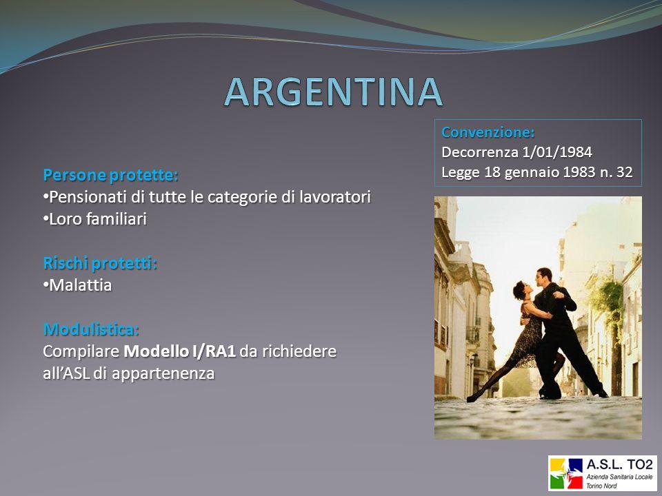 ARGENTINA Persone protette: