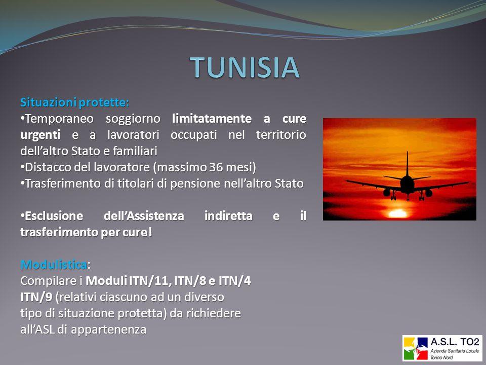 TUNISIA Situazioni protette: