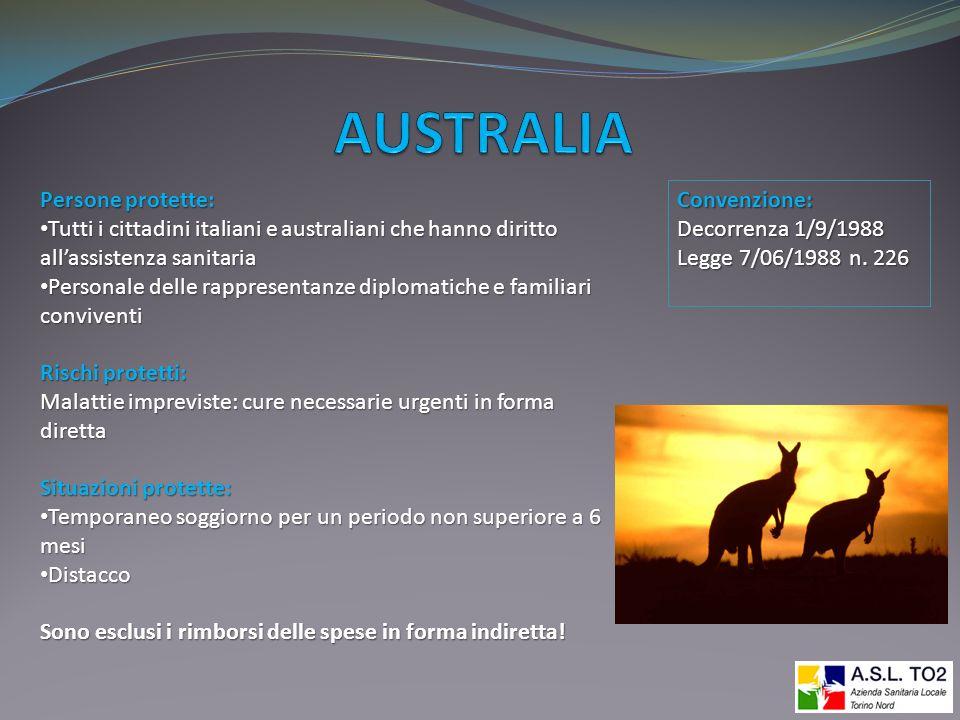 AUSTRALIA Persone protette:
