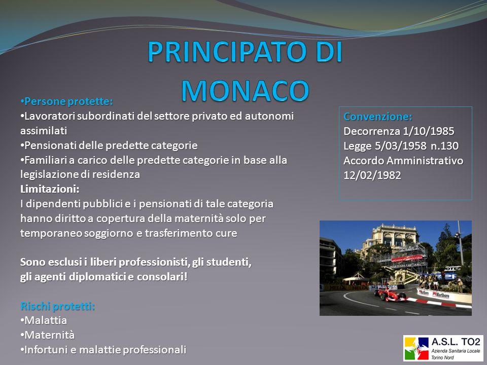 PRINCIPATO DI MONACO Persone protette: