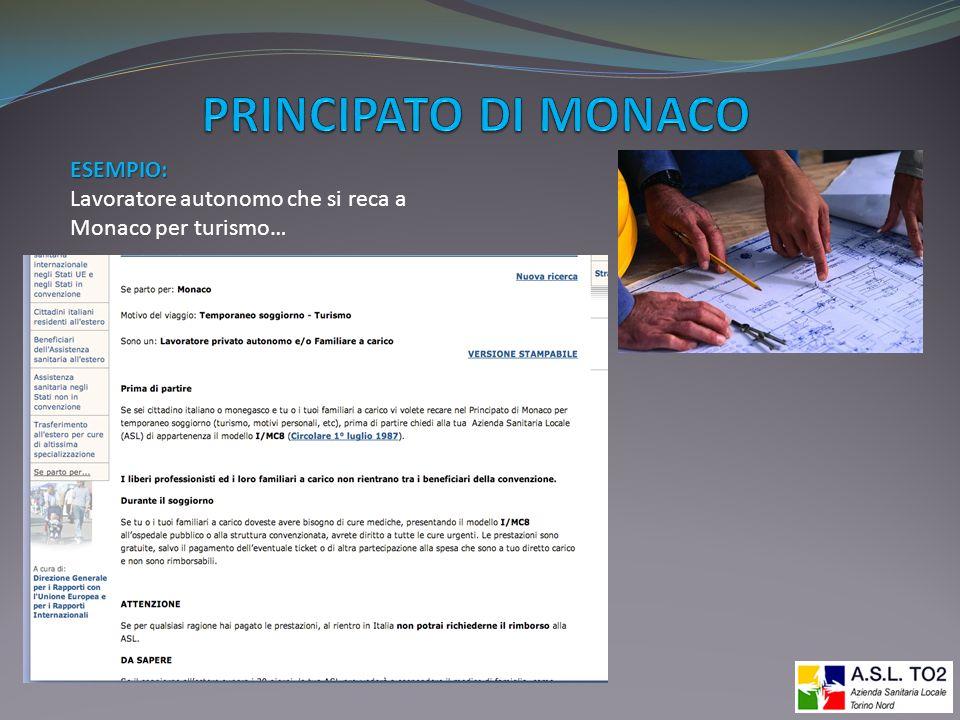 PRINCIPATO DI MONACO ESEMPIO: