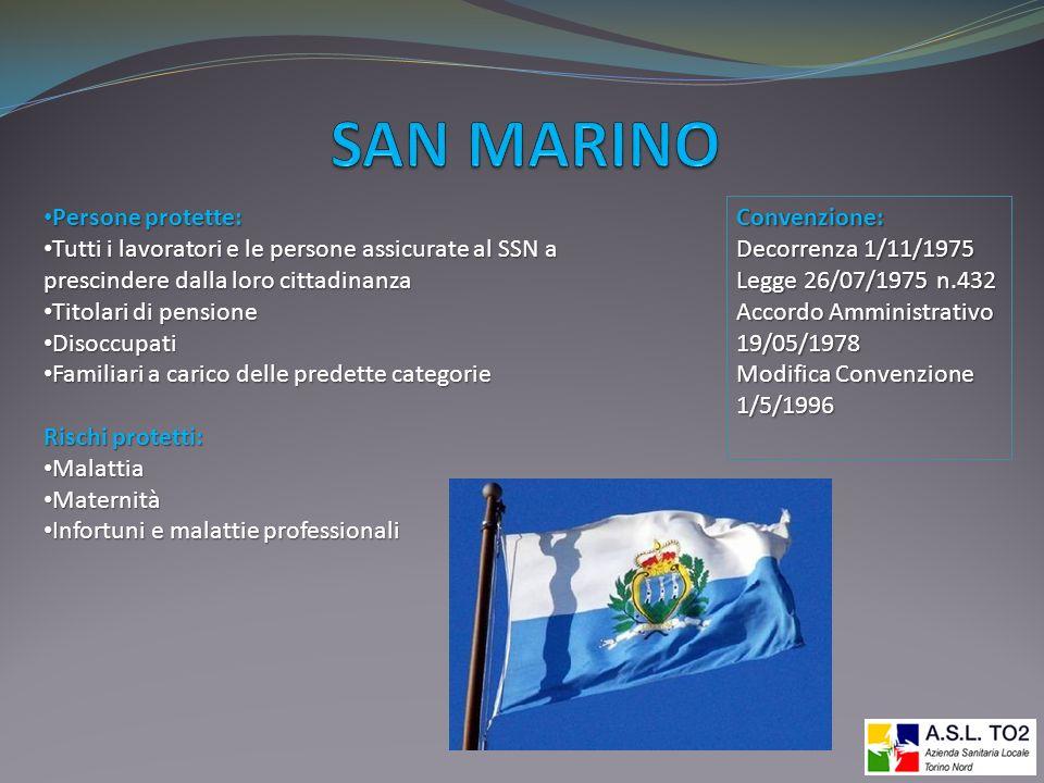 SAN MARINO Persone protette: