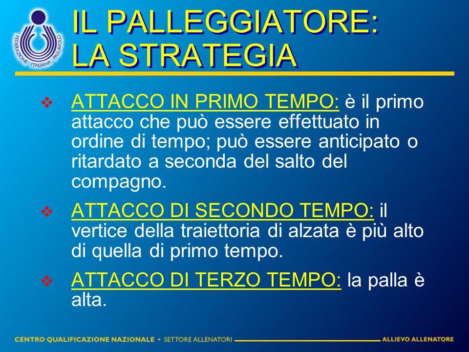 IL PALLEGGIATORE: LA STRATEGIA
