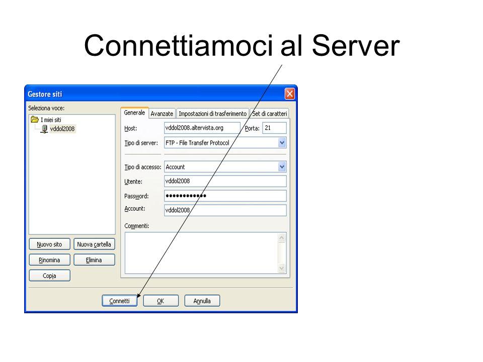 Connettiamoci al Server