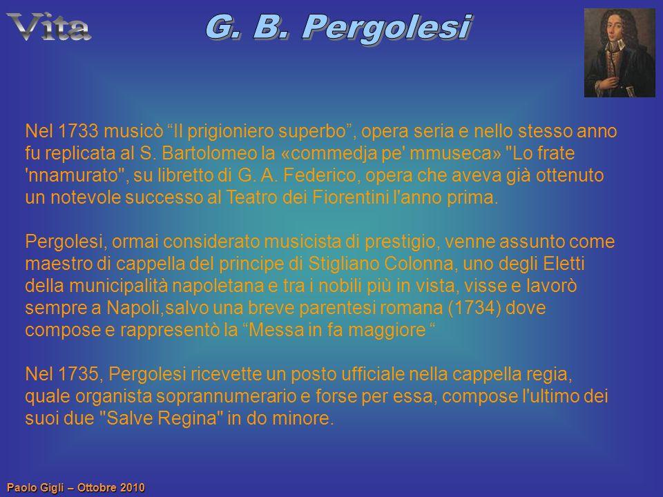 Vita G. B. Pergolesi.