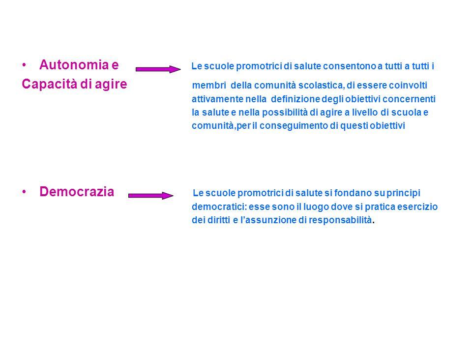 Democrazia Le scuole promotrici di salute si fondano su principi