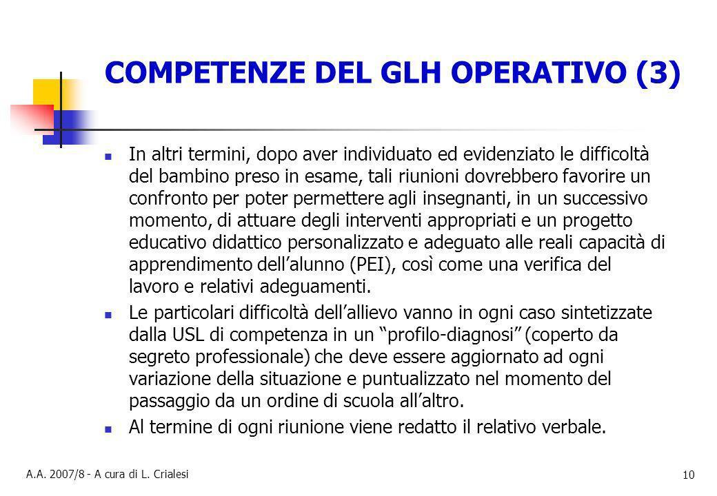 COMPETENZE DEL GLH OPERATIVO (3)