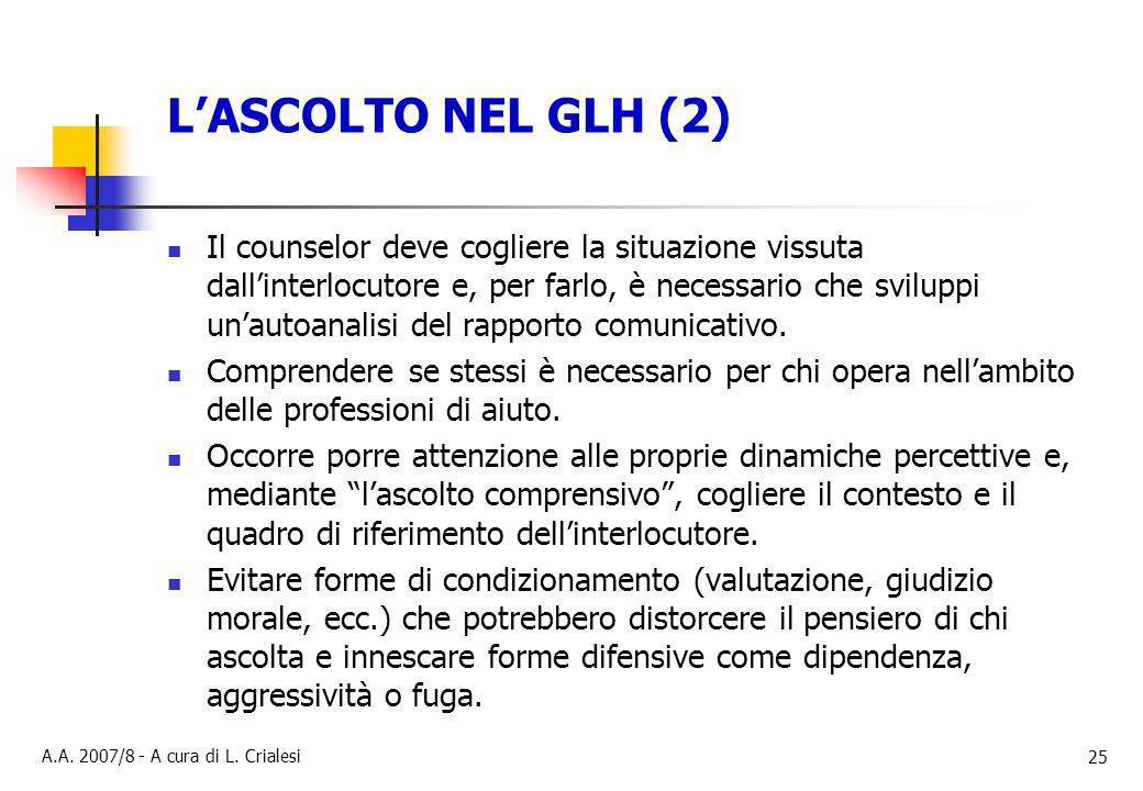 L'ASCOLTO NEL GLH (2)