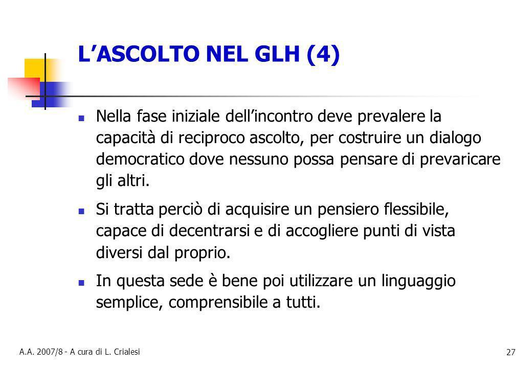 L'ASCOLTO NEL GLH (4)