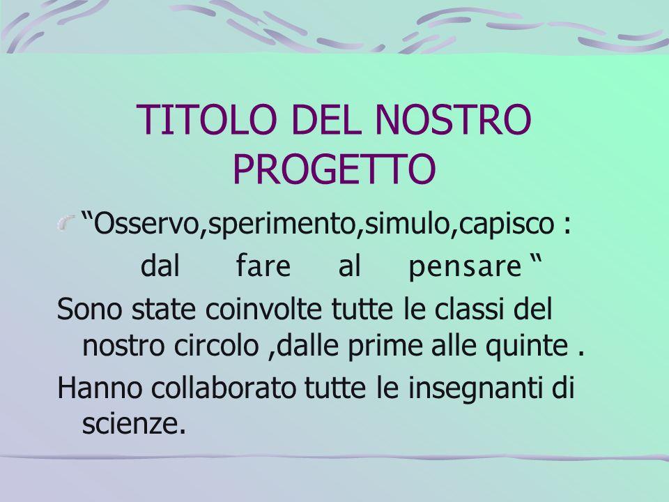 TITOLO DEL NOSTRO PROGETTO
