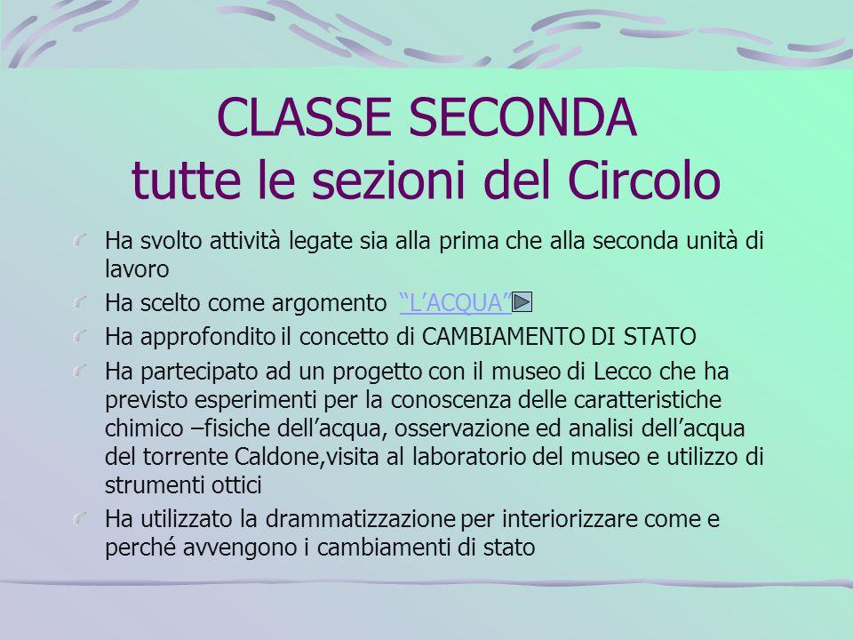 CLASSE SECONDA tutte le sezioni del Circolo