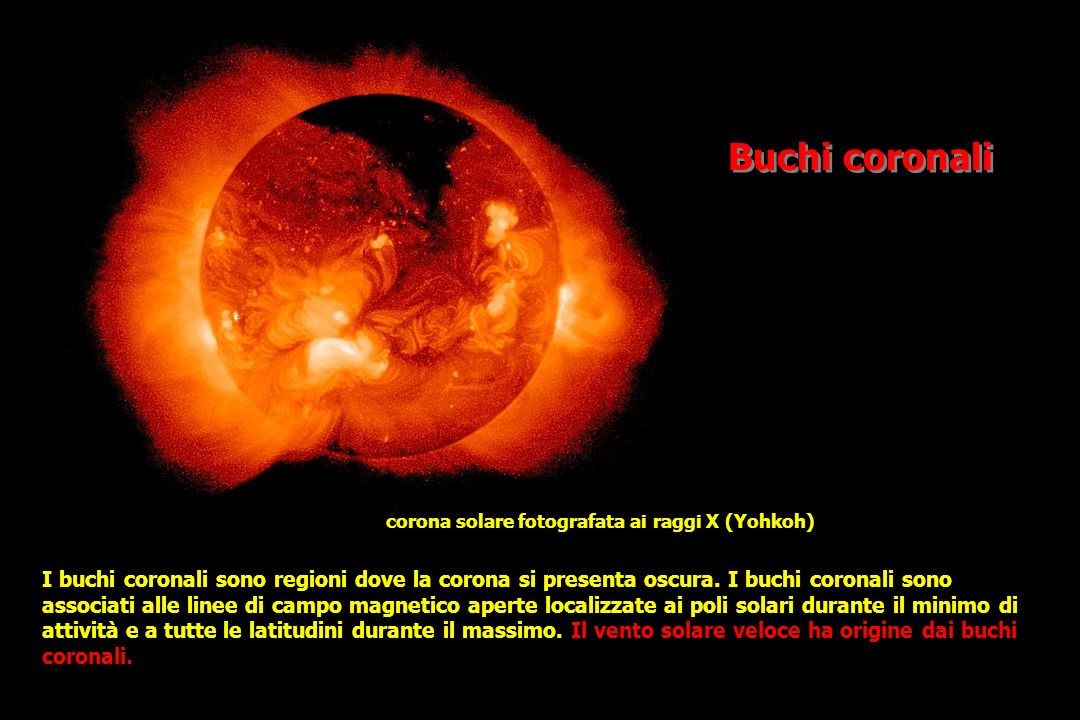 Buchi coronali corona solare fotografata ai raggi X (Yohkoh)