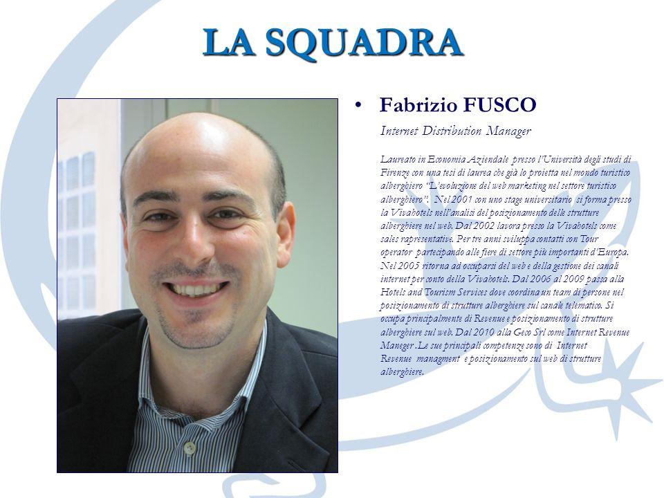 LA SQUADRA Fabrizio FUSCO Internet Distribution Manager