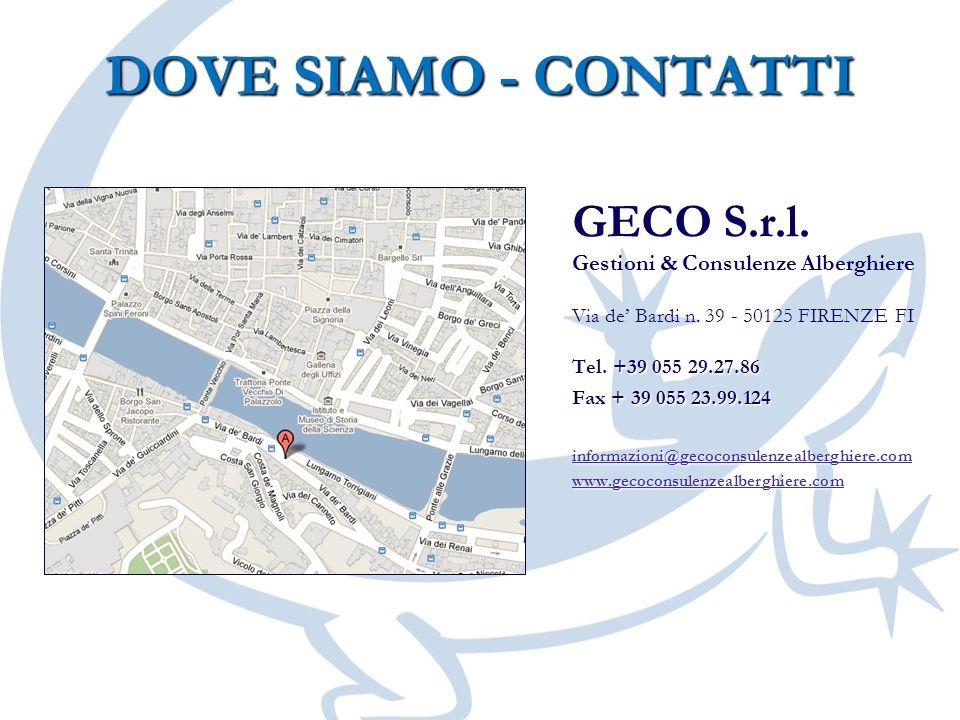DOVE SIAMO - CONTATTI GECO S.r.l. Gestioni & Consulenze Alberghiere
