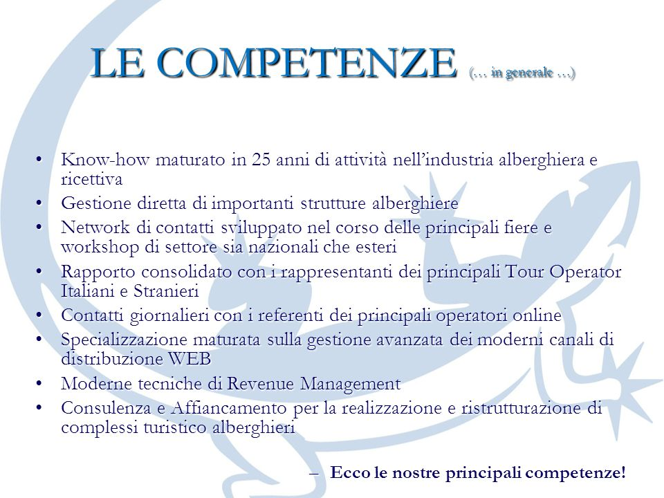 LE COMPETENZE (… in generale …)
