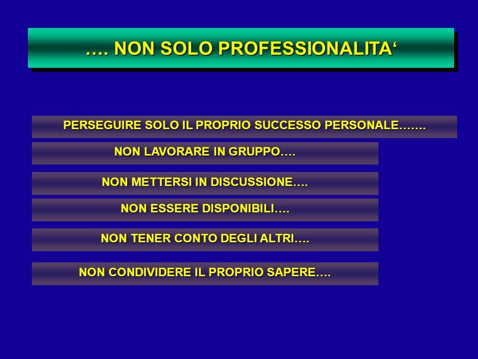 …. NON SOLO PROFESSIONALITA'