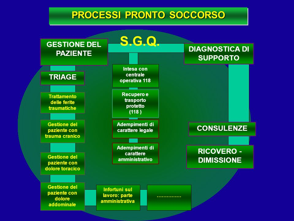 S.G.Q. PROCESSI PRONTO SOCCORSO GESTIONE DEL PAZIENTE