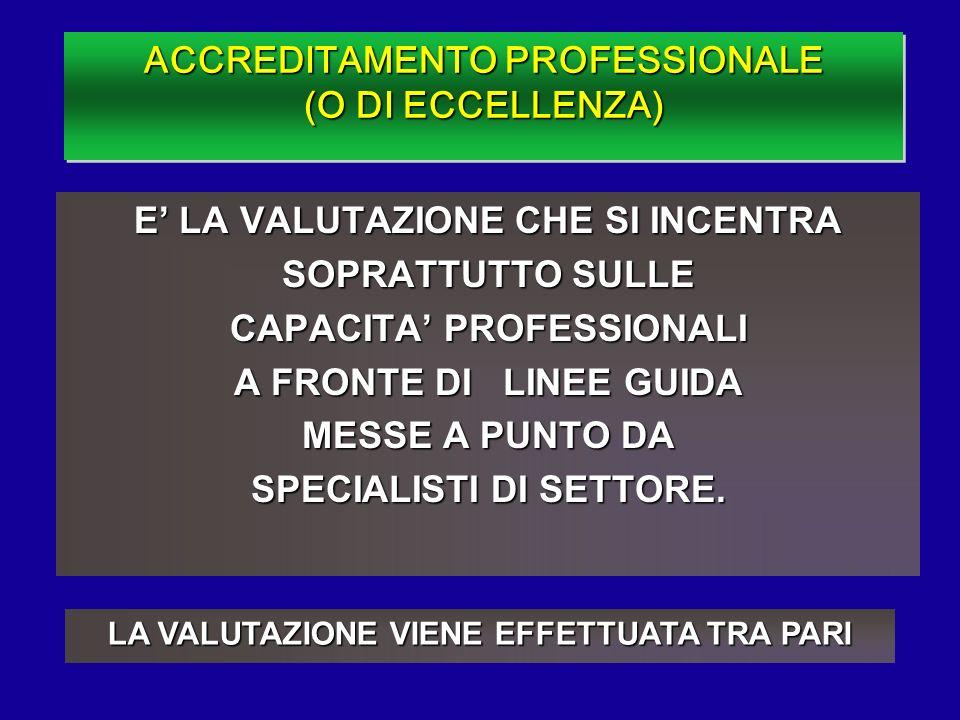 ACCREDITAMENTO PROFESSIONALE (O DI ECCELLENZA)