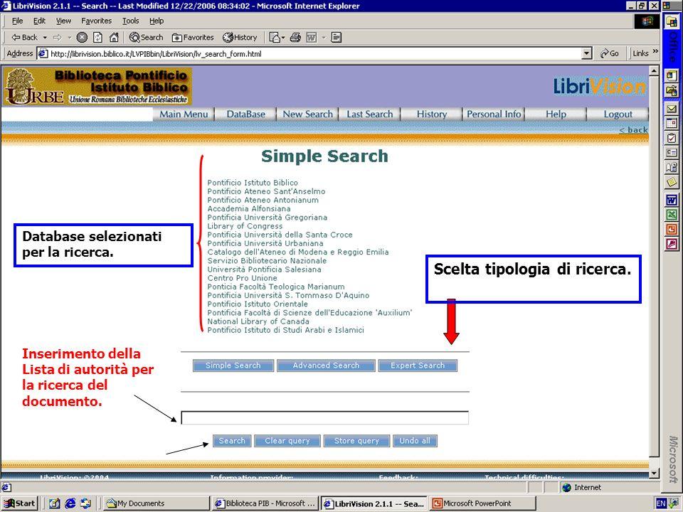 Scelta tipologia di ricerca.
