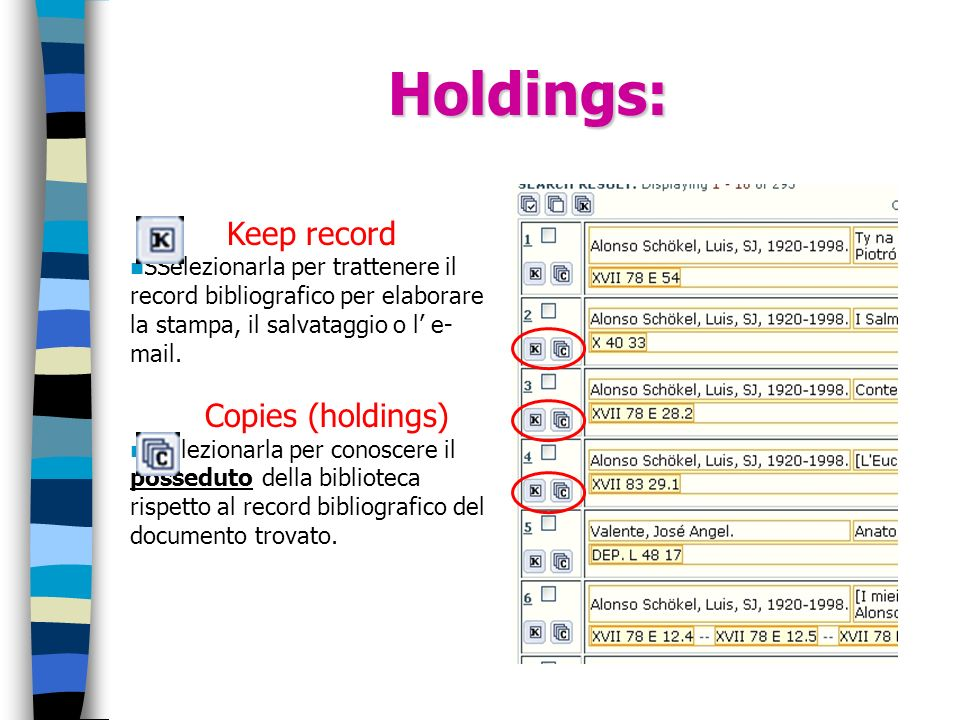 Holdings: Keep record Copies (holdings)