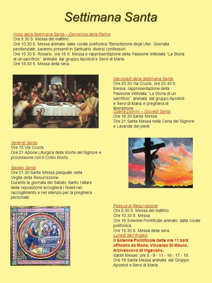Settimana Santa Inizio della Settimana Santa – Domenica delle Palme