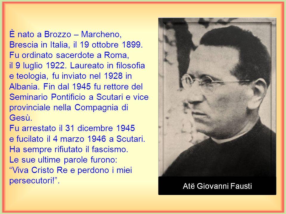 È nato a Brozzo – Marcheno, Brescia in Italia, il 19 ottobre 1899.