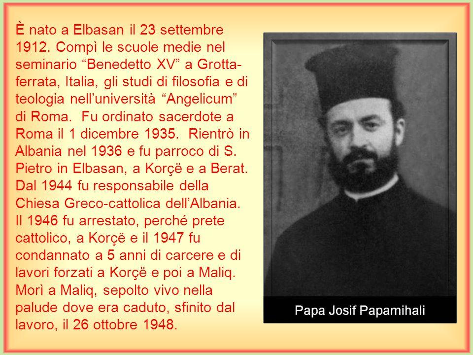 È nato a Elbasan il 23 settembre 1912