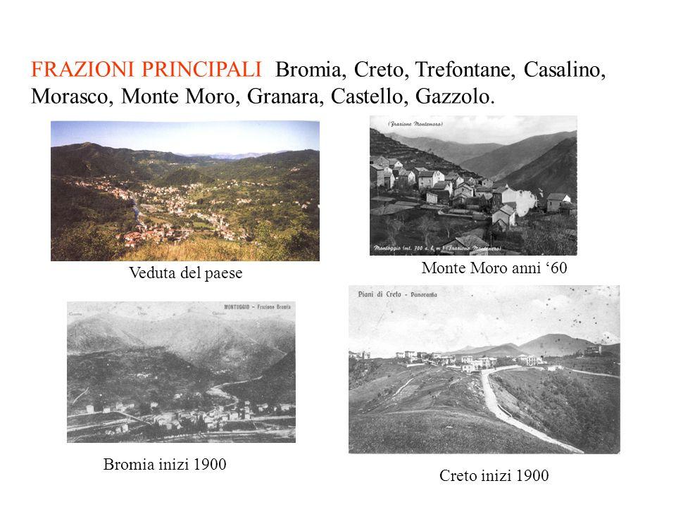 FRAZIONI PRINCIPALI Bromia, Creto, Trefontane, Casalino, Morasco, Monte Moro, Granara, Castello, Gazzolo.