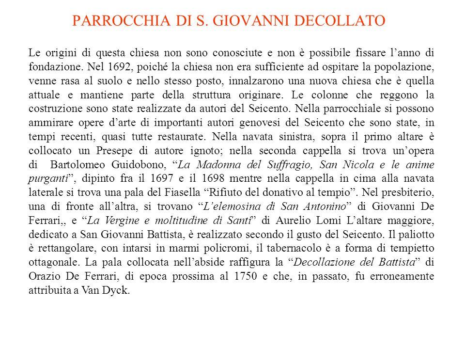 PARROCCHIA DI S. GIOVANNI DECOLLATO