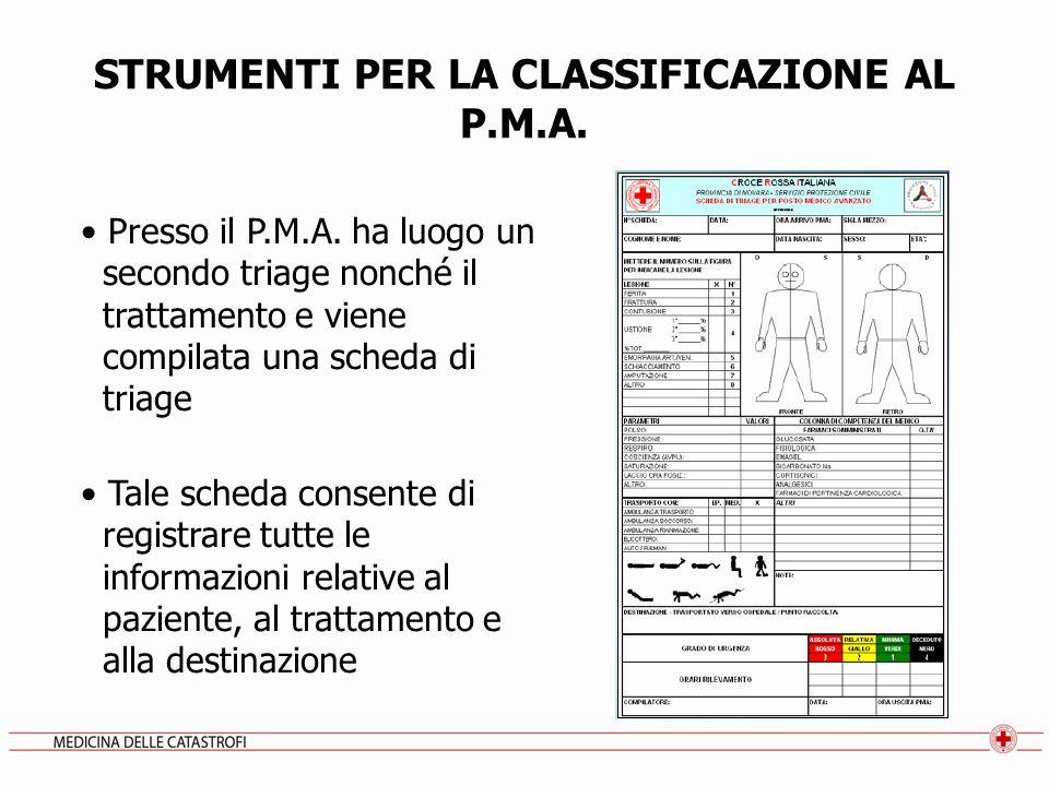 STRUMENTI PER LA CLASSIFICAZIONE AL P.M.A.