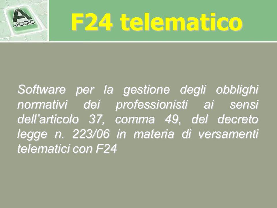 F24 telematico