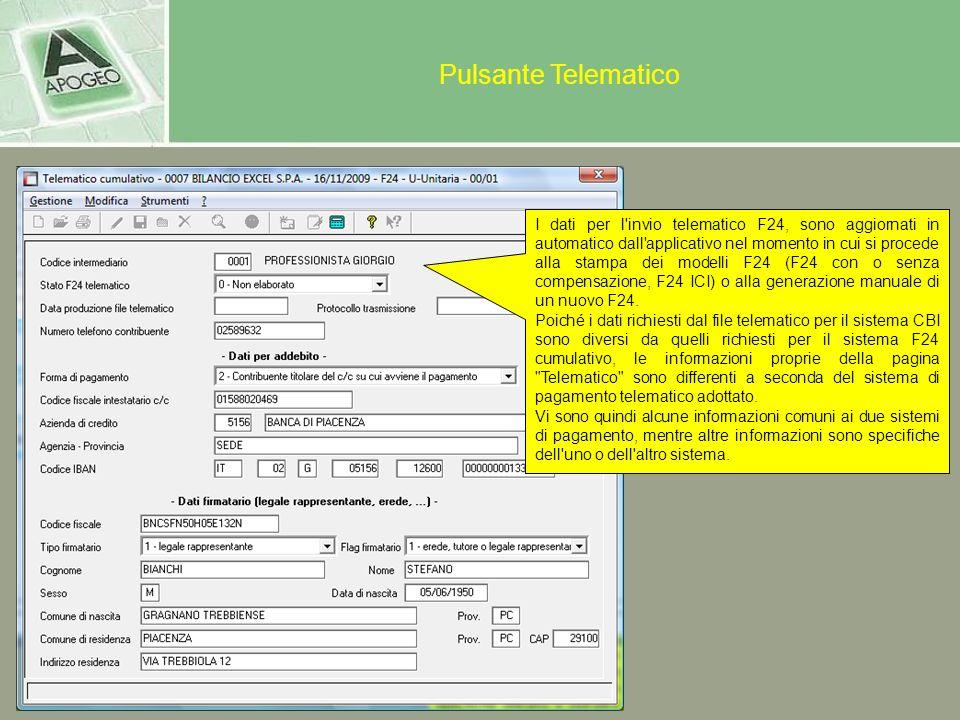 Pulsante Telematico