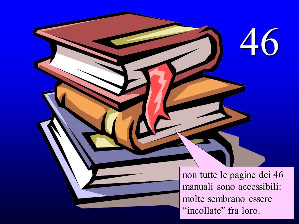46 non tutte le pagine dei 46 manuali sono accessibili: