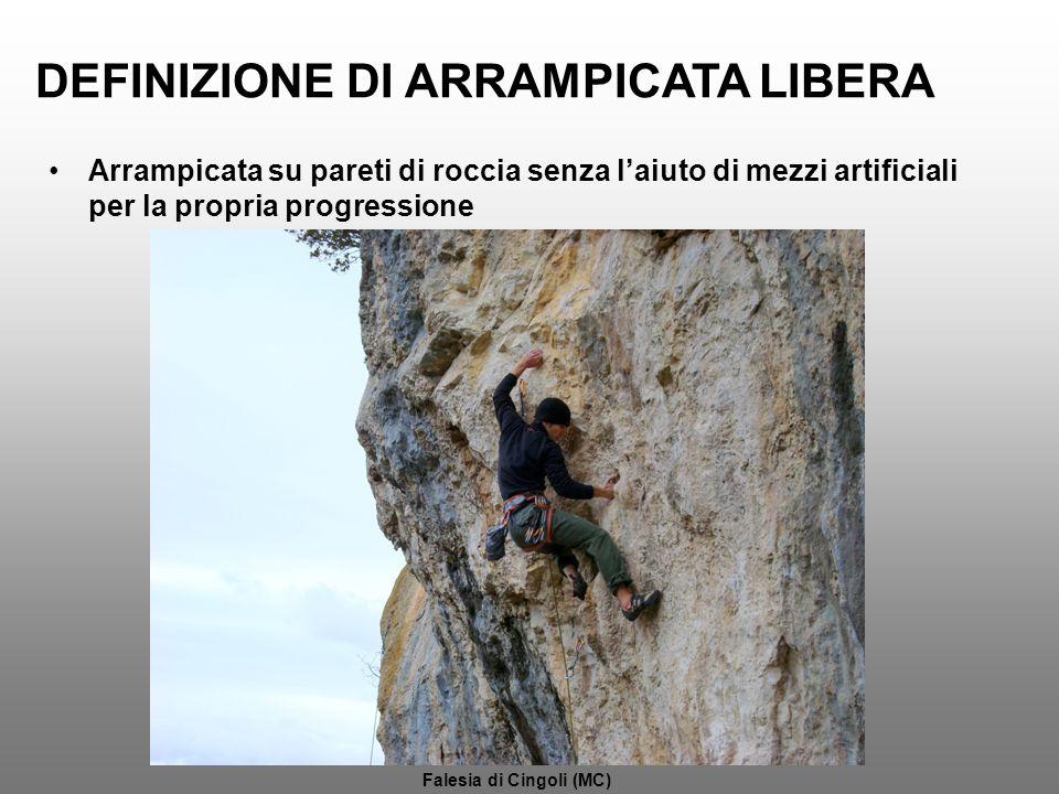 DEFINIZIONE DI ARRAMPICATA LIBERA