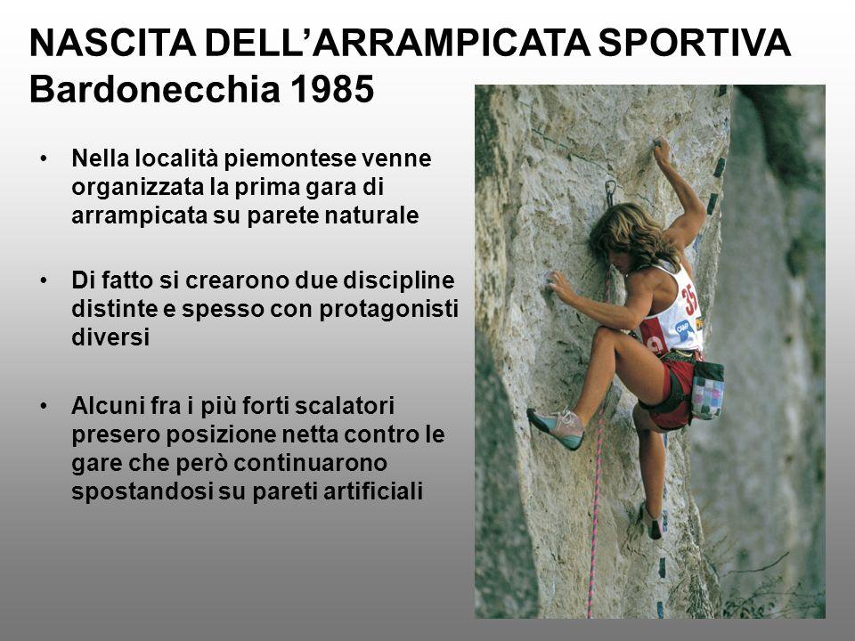 NASCITA DELL'ARRAMPICATA SPORTIVA Bardonecchia 1985