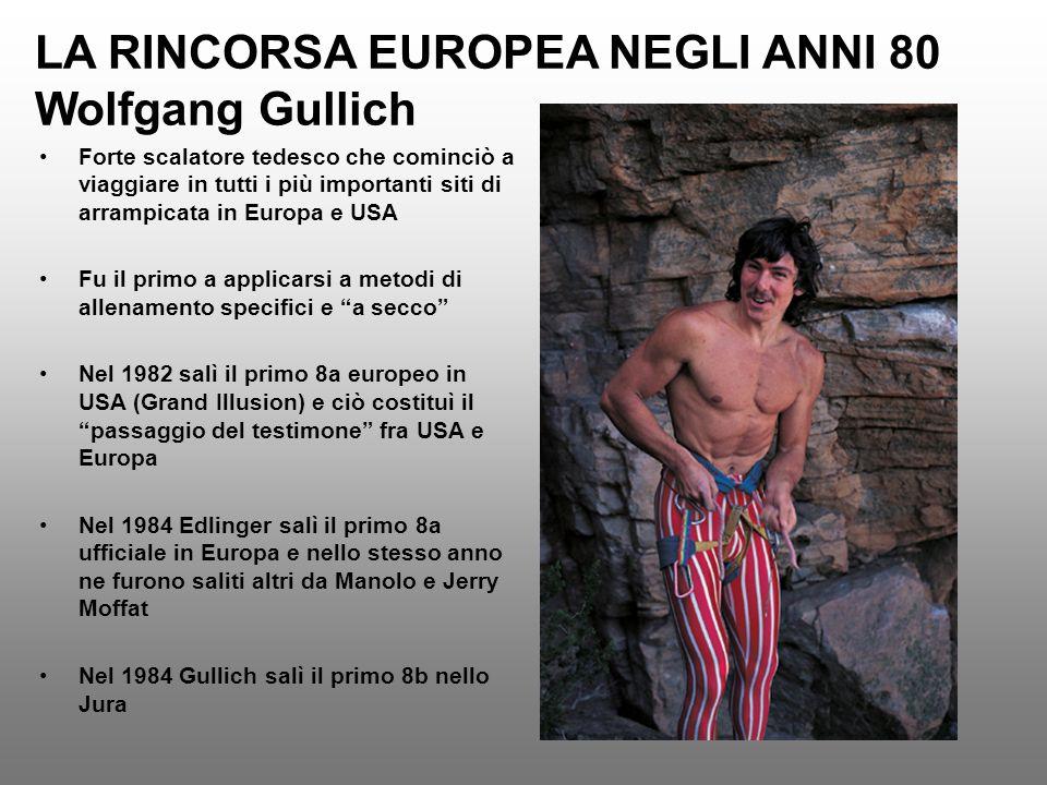 LA RINCORSA EUROPEA NEGLI ANNI 80 Wolfgang Gullich
