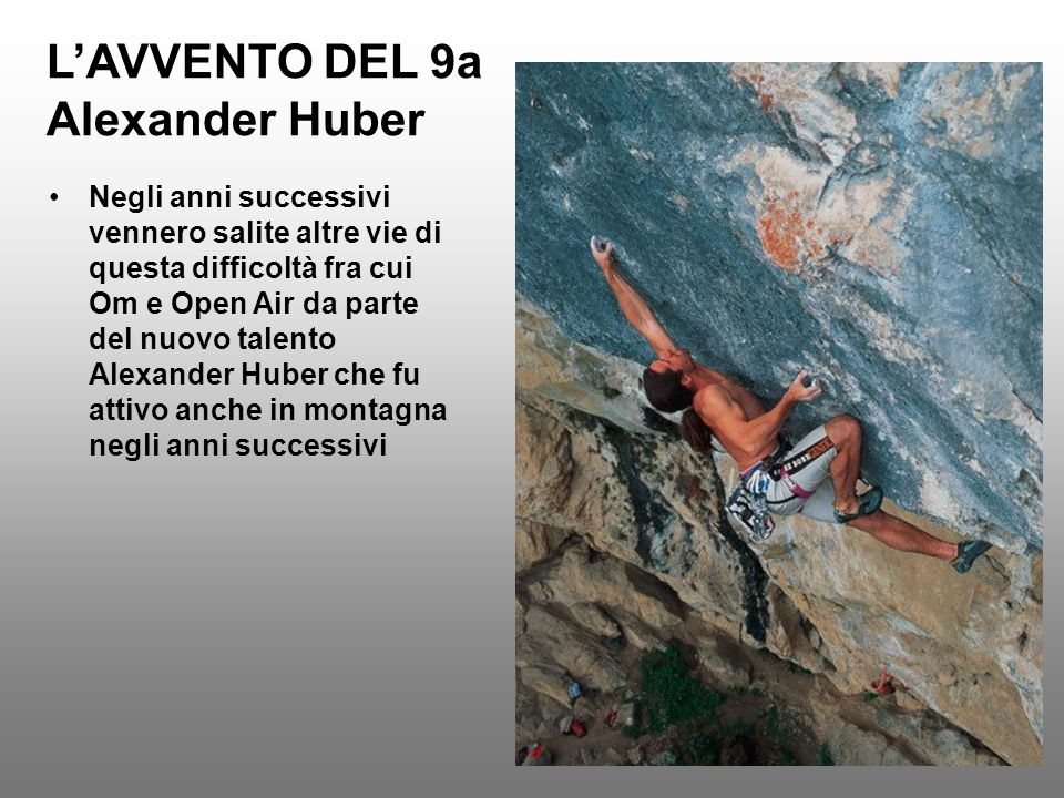 L'AVVENTO DEL 9a Alexander Huber