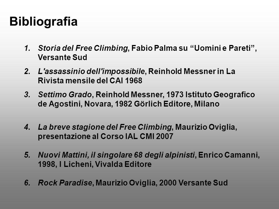Bibliografia Storia del Free Climbing, Fabio Palma su Uomini e Pareti , Versante Sud.