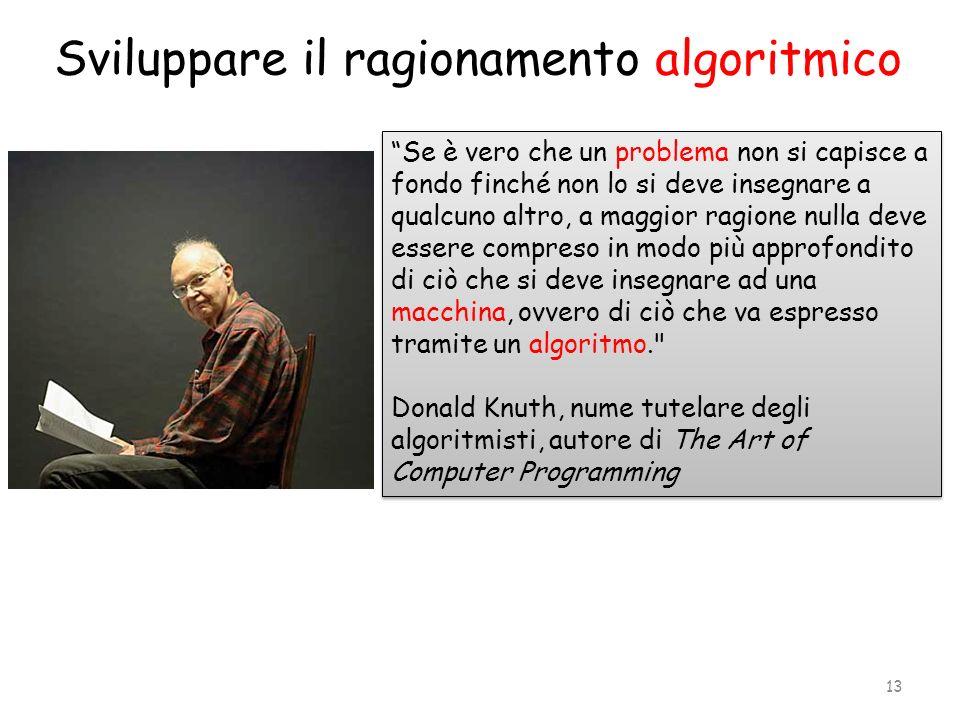 Sviluppare il ragionamento algoritmico