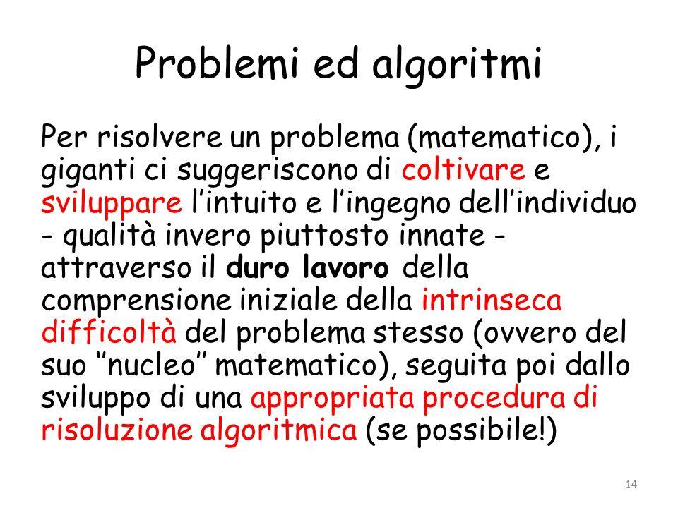 Problemi ed algoritmi
