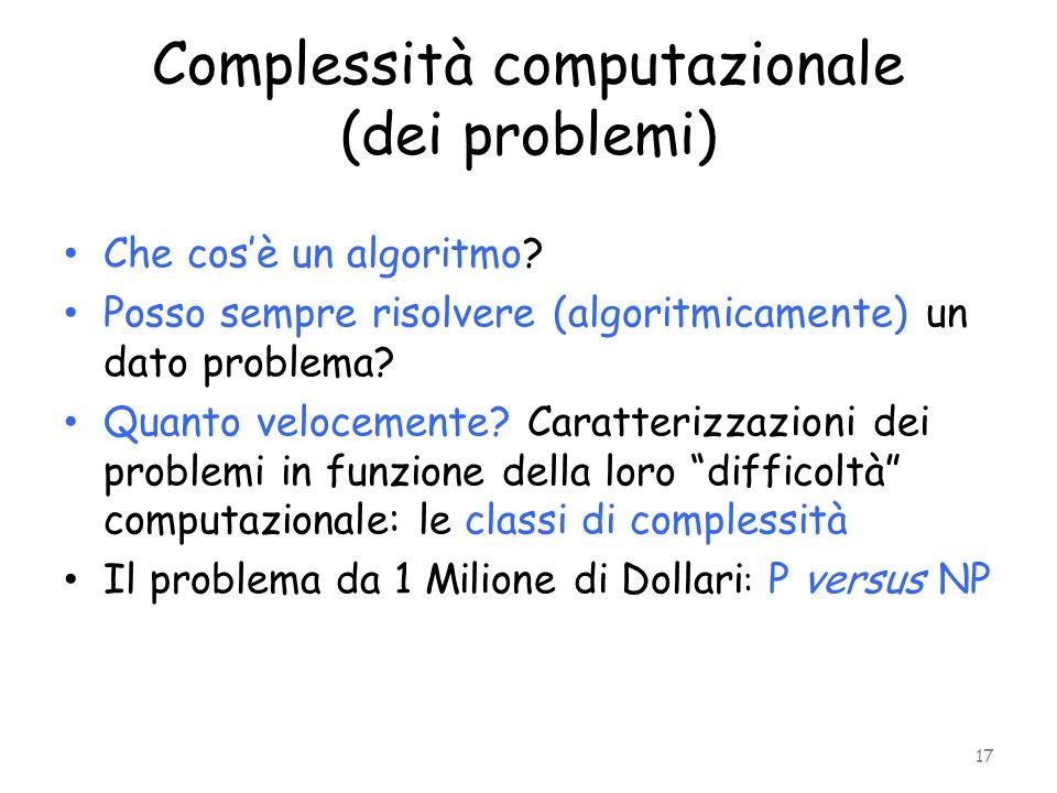 Complessità computazionale (dei problemi)